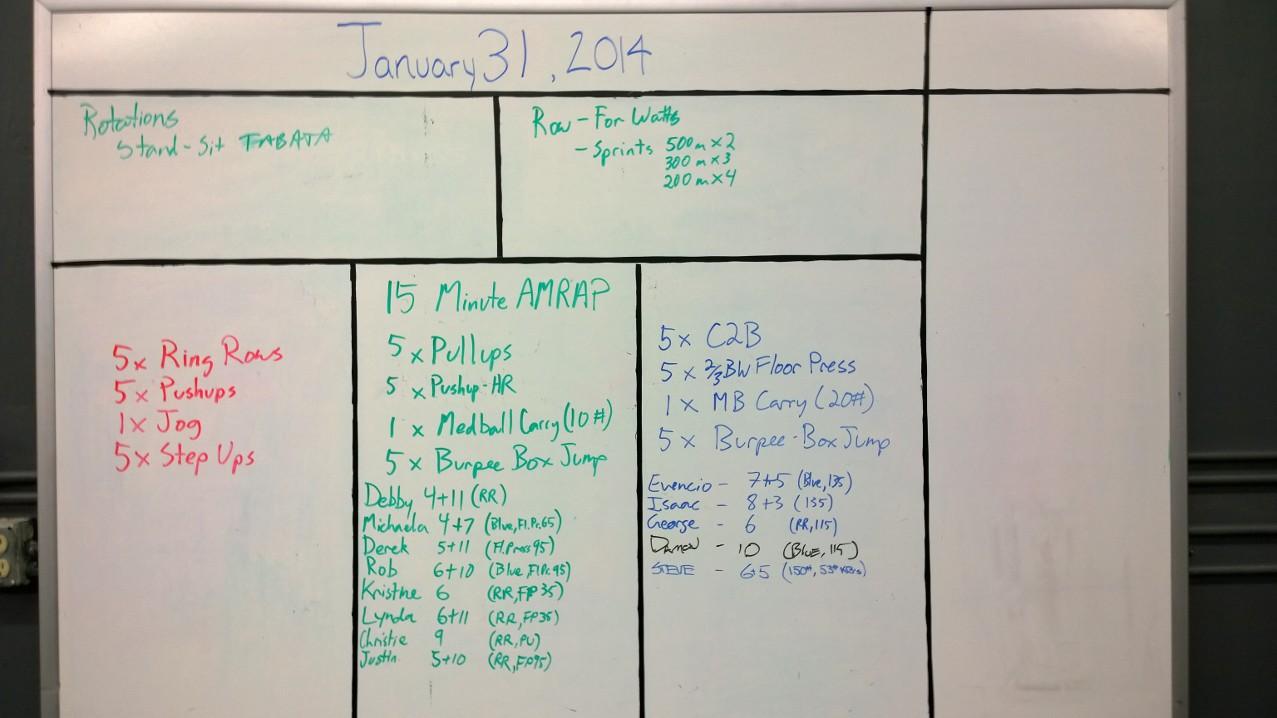 Jan 31 WOD Results