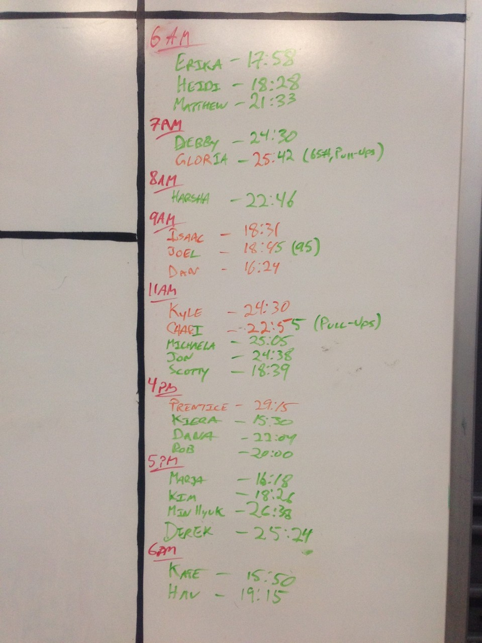 June 4 WOD Results