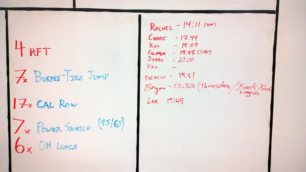 July 4 WOD Results