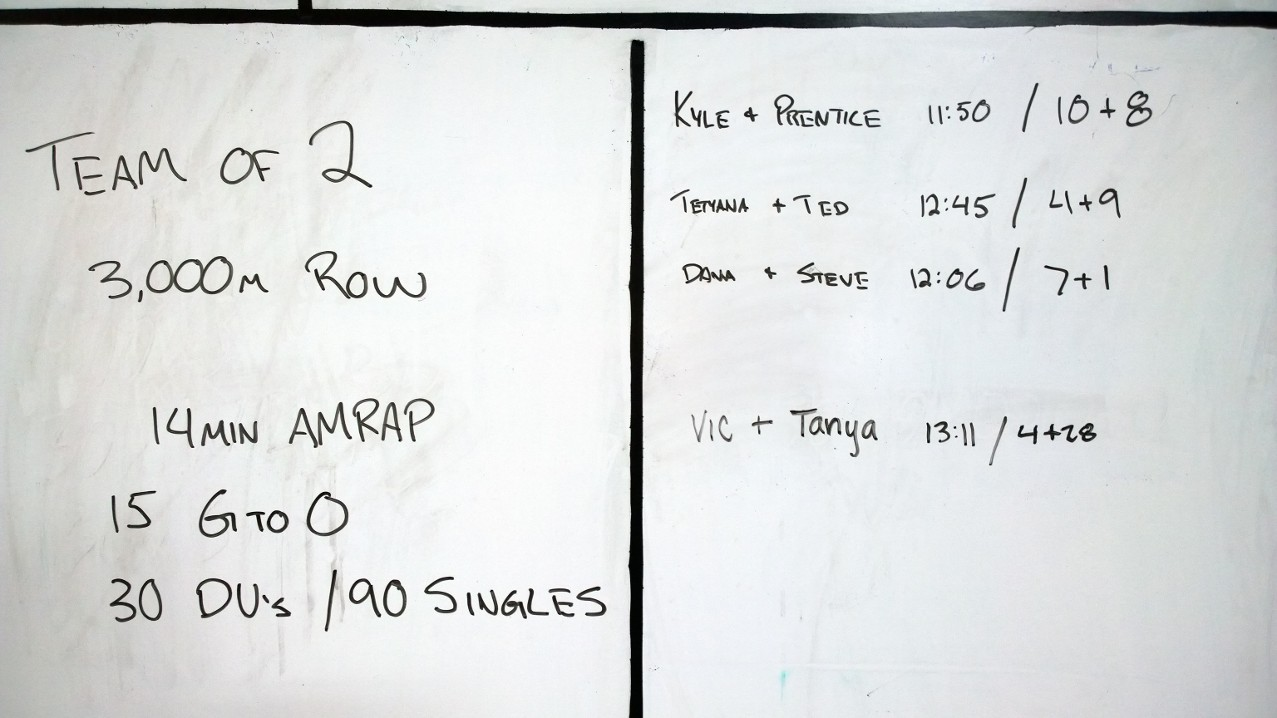 Aug 23 WOD Results