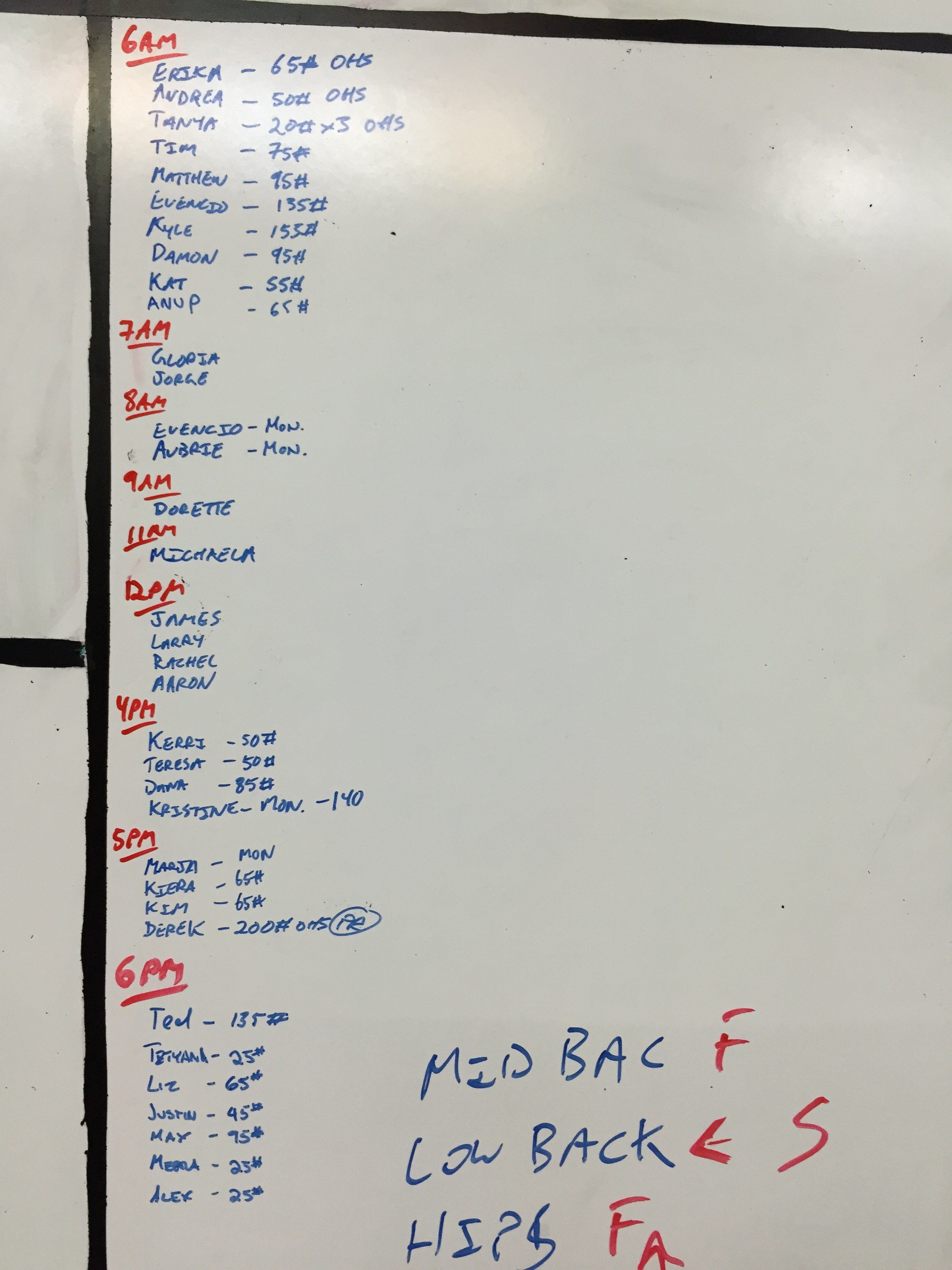 Sep 23 WOD Results