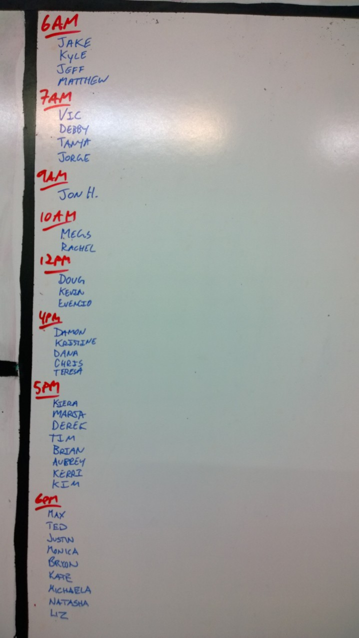 Sep 11 WOD Results