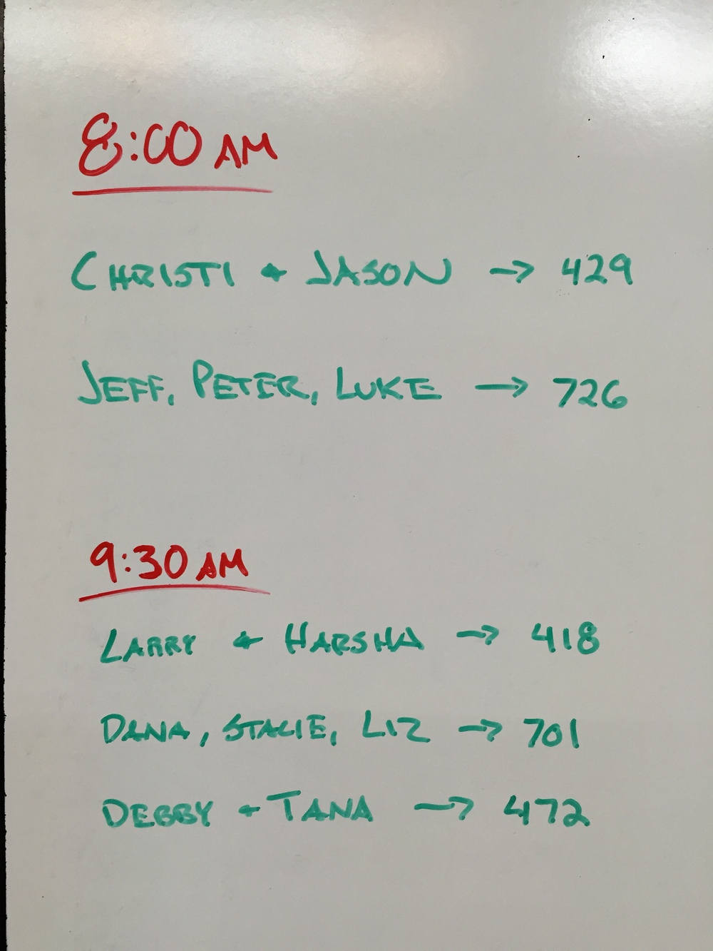 Team WOD Results 10/25