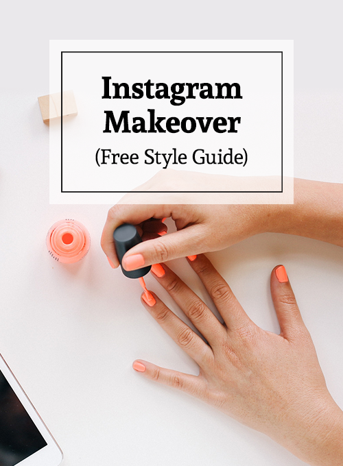Get that cohesive look on Instagram. Free style guide download.