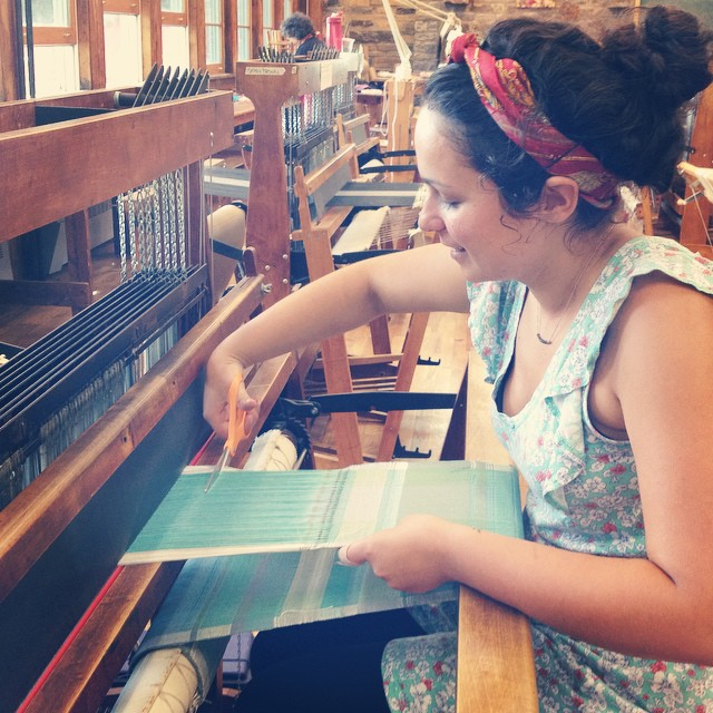 Weaving at Penland