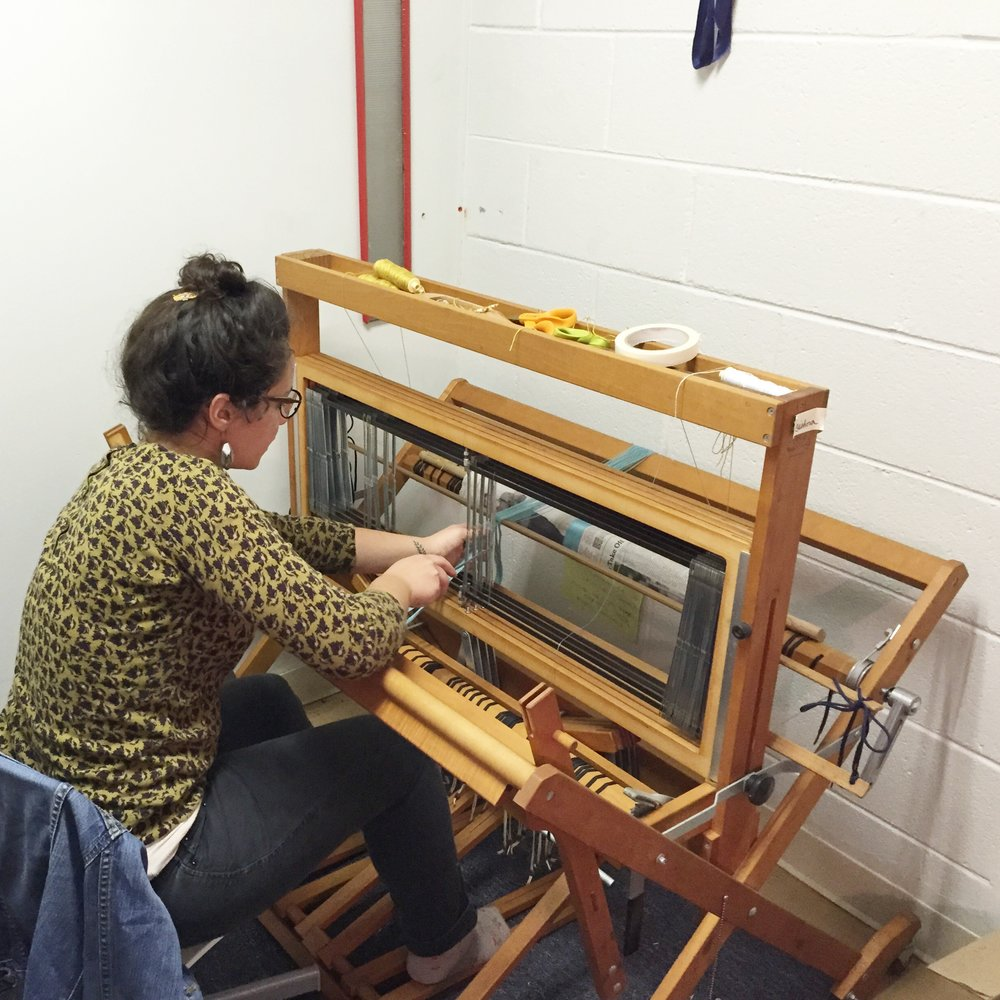 My first loom in my first studio.