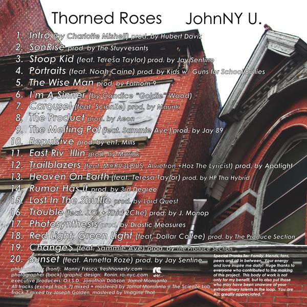 Thorned Roses tracklist