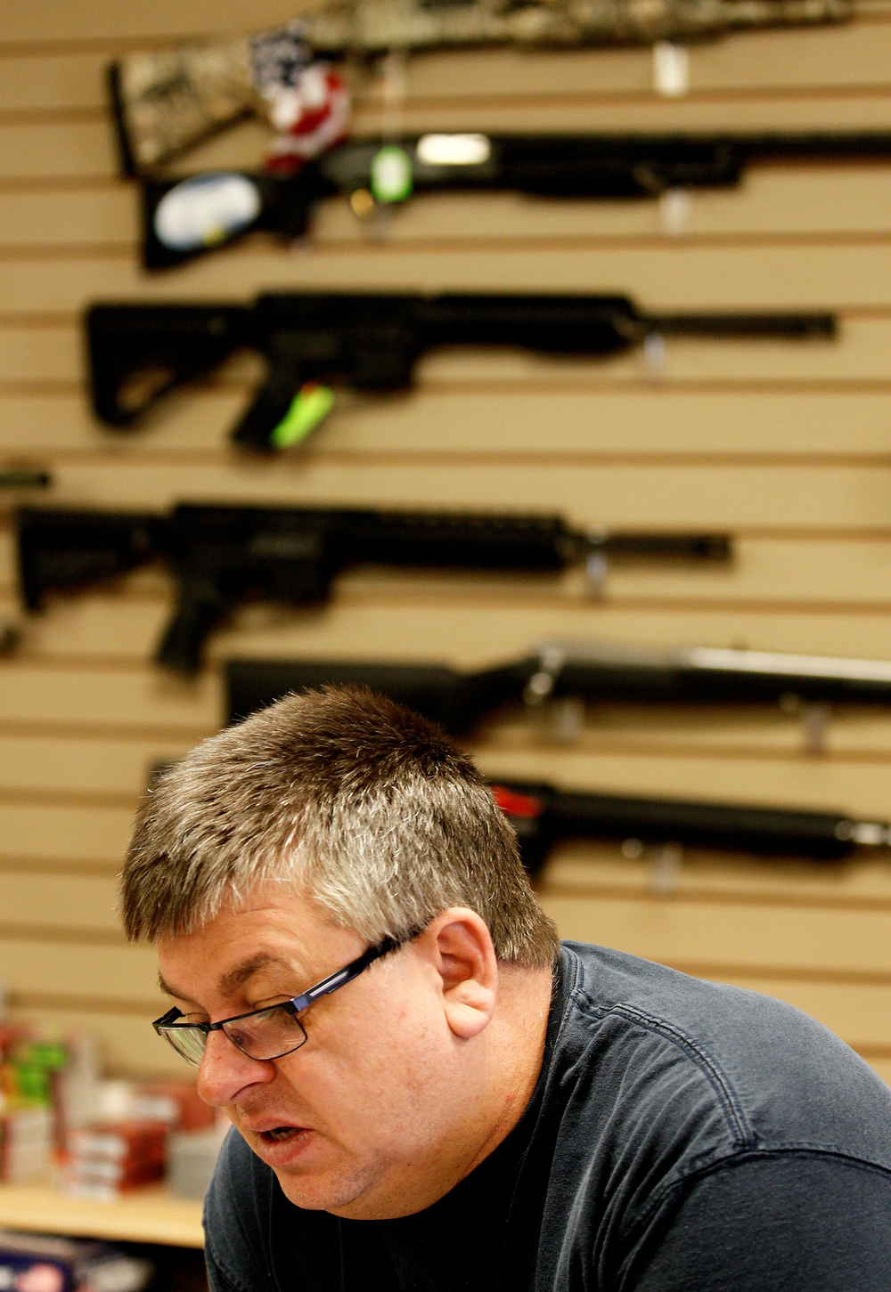 Brickyard Carry Out & Drive Thru and gun store owner Matt Dixon has been selling guns and ammunition for eight years in Gouster, Ohio.