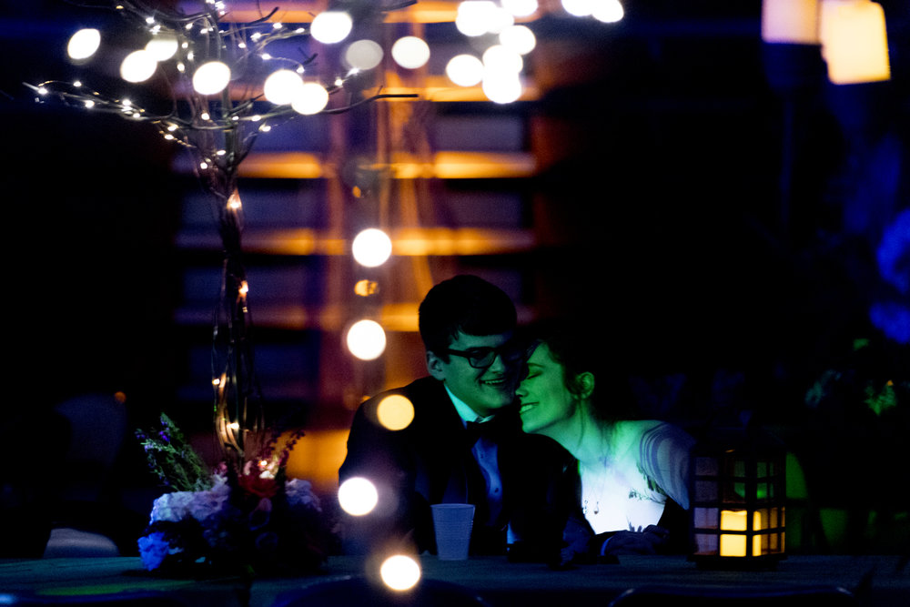A  couple becomes intimate during their senior prom at Oak Ridge High School in Oak Ridge, Tennessee.