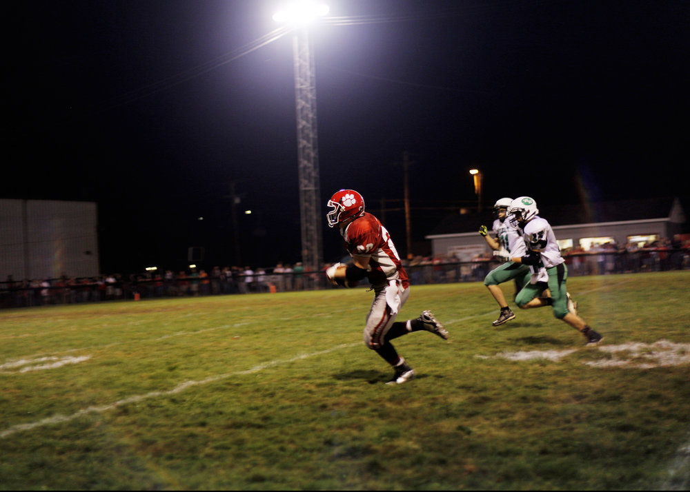 Trimble High School football game against , Glouster, Ohio, September 2014.