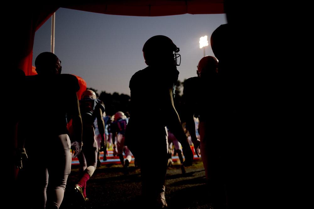Austin-East High School, a historically black high school, football team. Knoxville, Tenn.