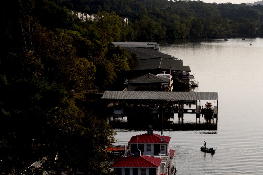 Fishing on the Tennessee River. Knoxville, Tenn.