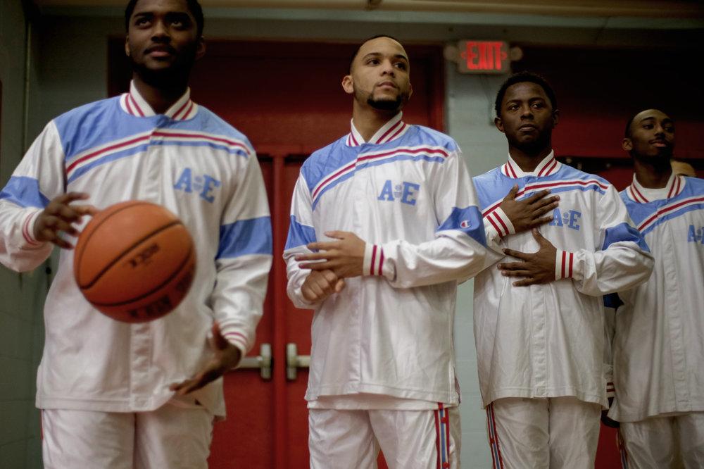 Austin-East High School, a historically black high school, basketball team. Knoxville, Tenn.