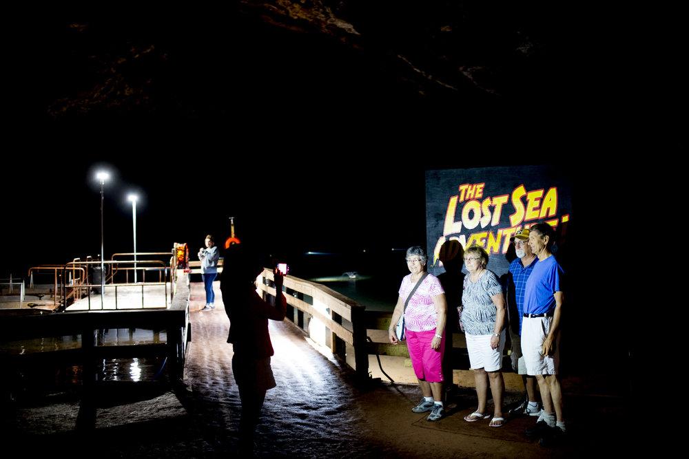 Lost Sea underground cave adventure. Sweetwater, Tenn.