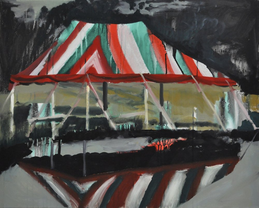 Viva Italiana Study, 2' x 3' Acrylic, Spray Paint and Oil on Canvas 2014