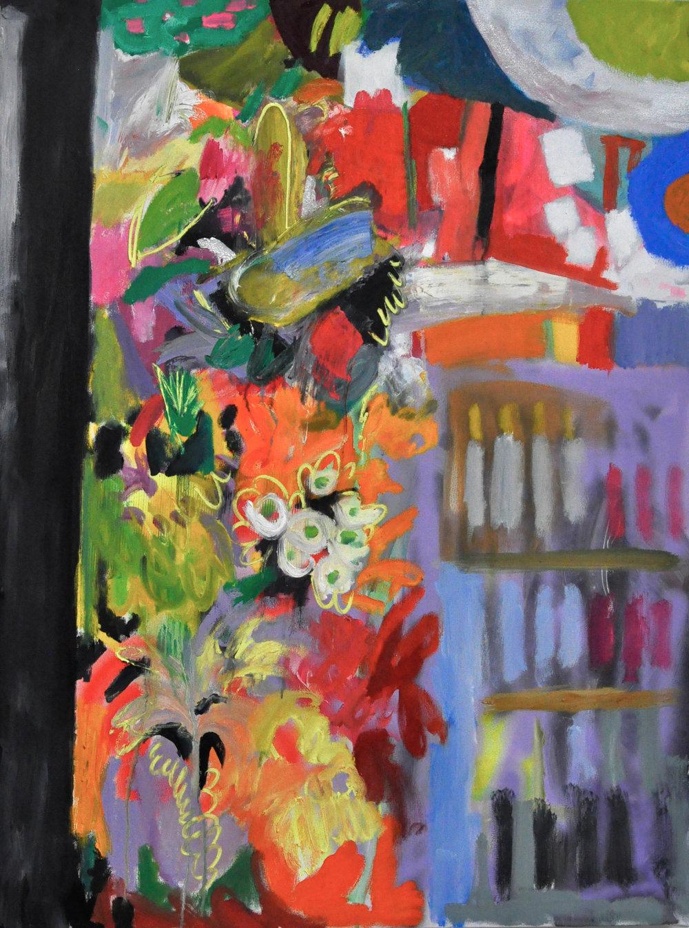 Bodega, 3' x '4' Spray Paint, Acrylic and Oil on canvas, 2014