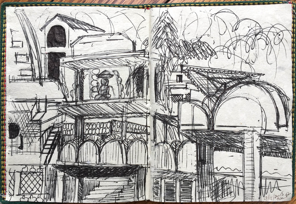 Buildings in India, Pen on Paper 2015
