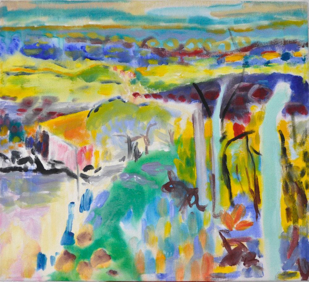 "Bonnard Study, 18"" x 20"" Acrylic on Canvas, 2014"