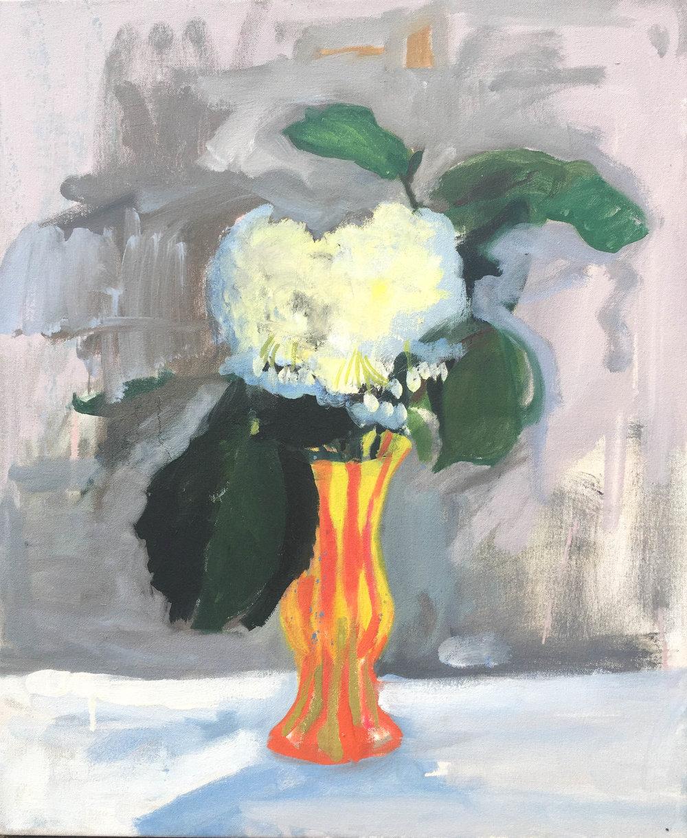"""Hydrangea, 20"""" x 24"""" Oil on Canvas, 2014"""