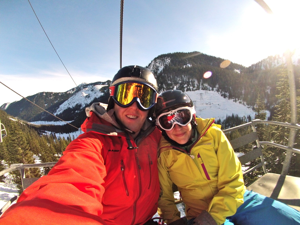 Skiing @ Steven's Pass