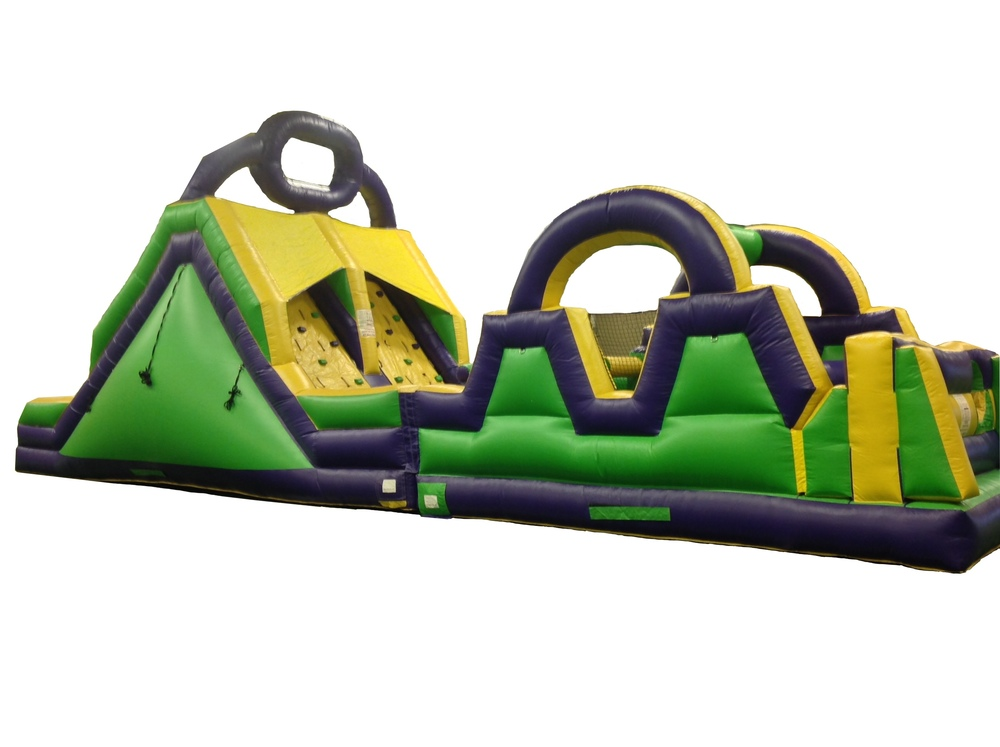 55 ft Rock Climb Obstacle Course and Slide