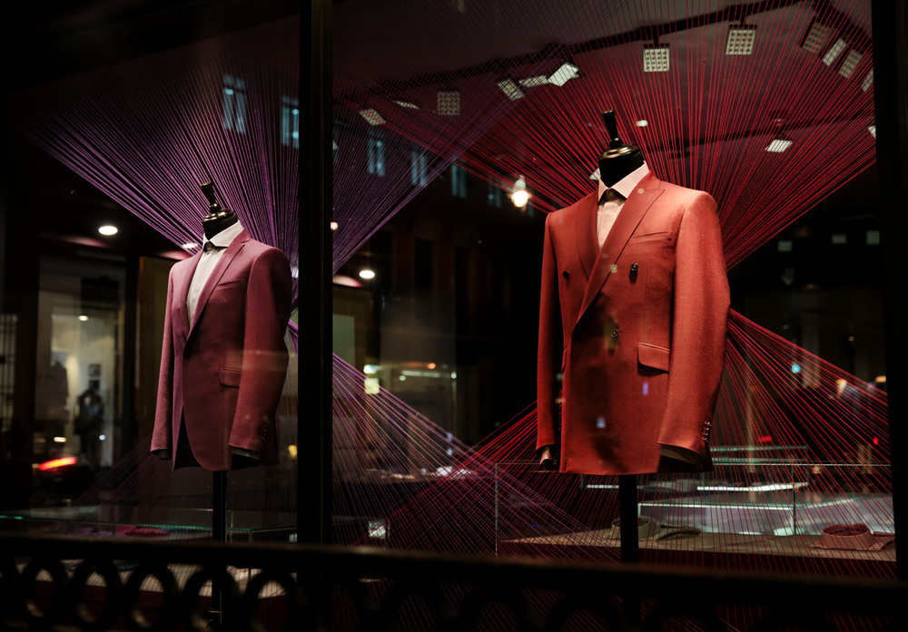 ozwald boateng window display savile row