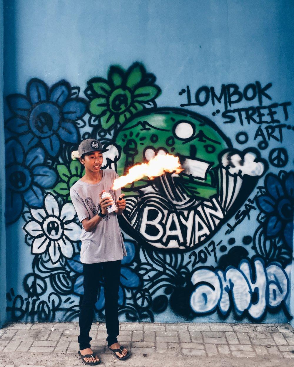 exploring Lombok bayan Sander gee
