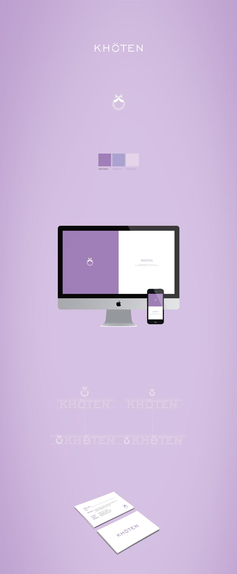 Khoten brand identity design by Sander Gee