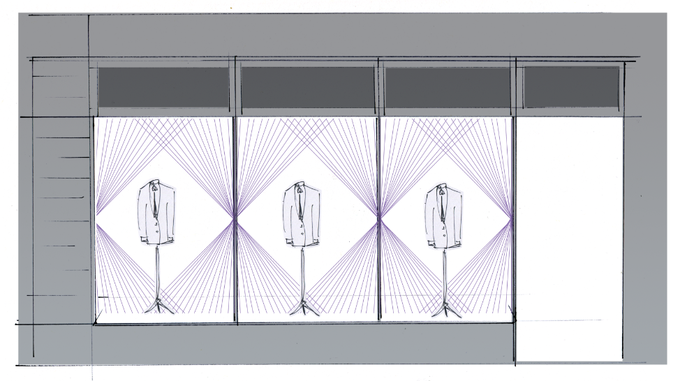 ozwald boateng window display savile row sander gee sketch.png
