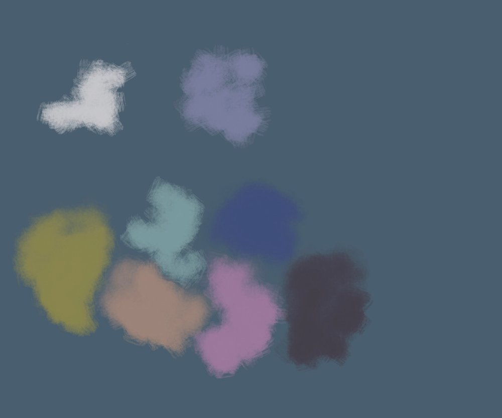 blobby clouds