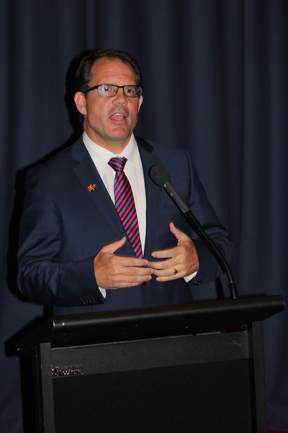 The Hon. Luke Gosling MP, Member for Solomon.