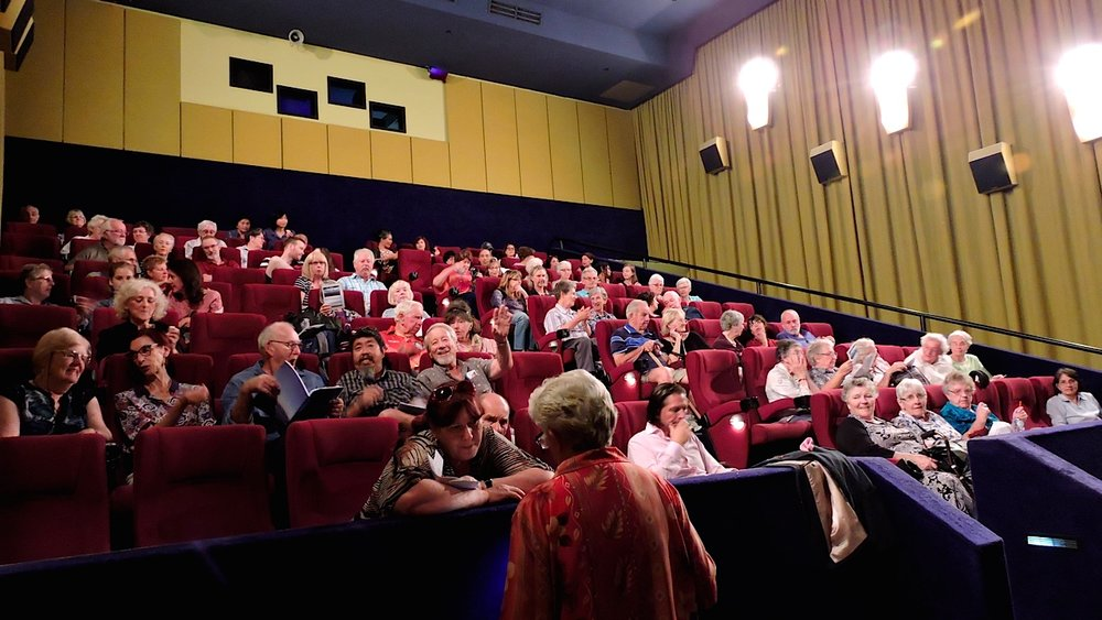 "Some of the audience at ""Time to Draw the Line"" at Event Cinemas, Burwood, 20 February, 2017"