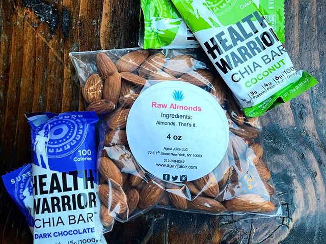 🙌🏻 Snacking doesn't have to be complicated or a constant battle! Go for something that's all natural, because chances are you're just hungry but can't get the desired meal you want at the moment. Eating raw organic almonds helps curve your cravings and keeps you fuller longer. 👅 Also dabble on our @healthwarrior bars! 🍃 Catering for ALL occasions! 🏳️‍🌈 Proudly serving organic juices & acai bowls daily . . AGAVI JUICE | NYC #agavijuice 💚 #agavinyc #agavi #nyc #newyorkcity #eastvillage #acaibowls #freshjuice #healthyeats #cleaneating #juicecleanse #acai #nyceats #nycfoodie #eastcoastfoodies #foodbabyny #fitness #usdaorganic #juicebar #wellness #juicedetox #health #organic #coldpress #foodie #manhattan