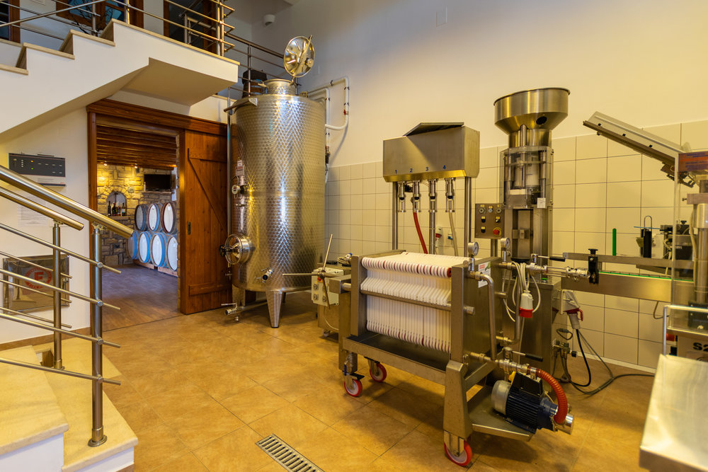 Bottling room