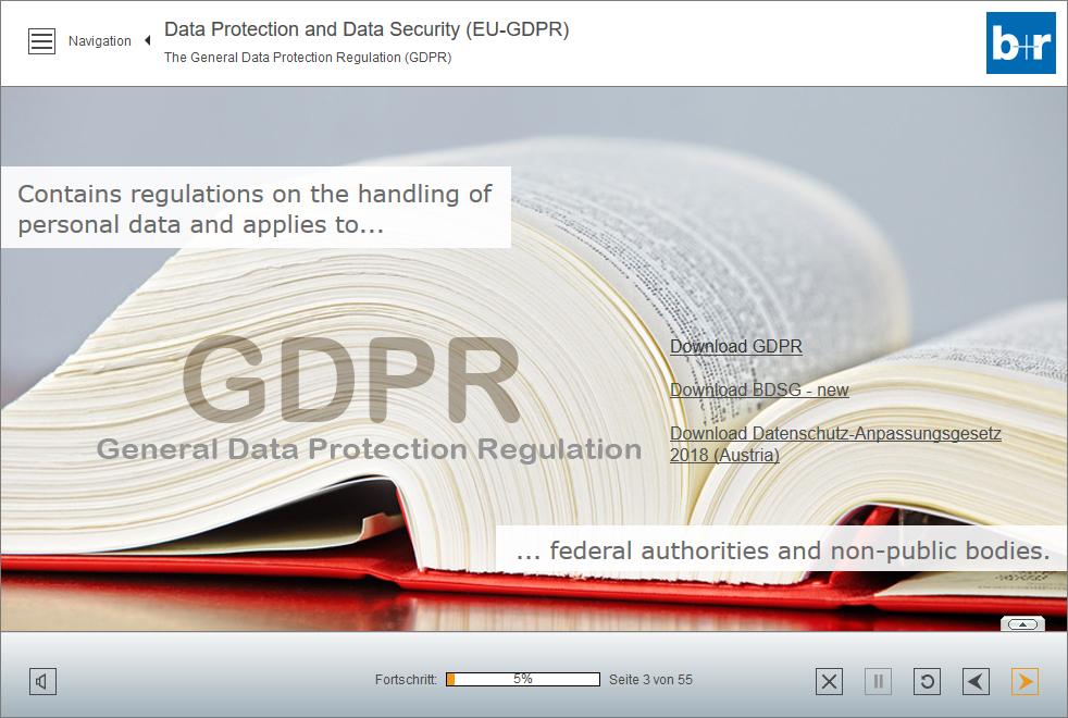 Englische Version des Datenschutz-WBT