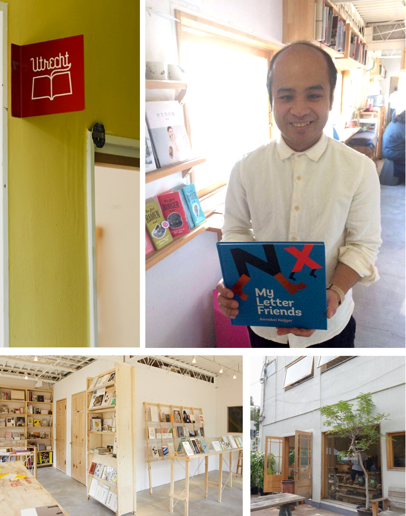Probably very ambitious idea: to sell My Letter Friends in Japan... I am proud that the book  has arrived at this charming bookshop called 'Utrecht' in Tokyo. UTRECHT