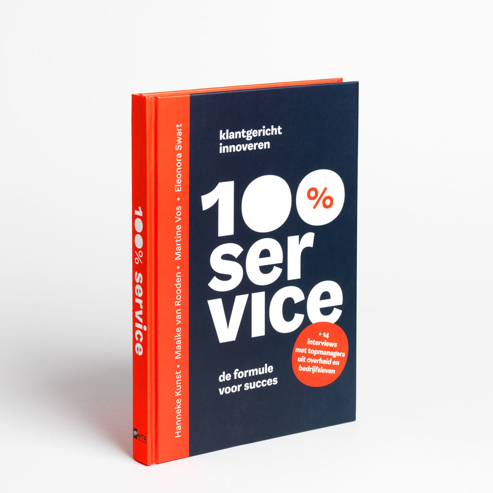 Bookdesign - Concept and layout design for this book about service design.Bookdesign & illustrations. Hardcover, 224 pages, release date: march 2017. Published by B'witz publishing.