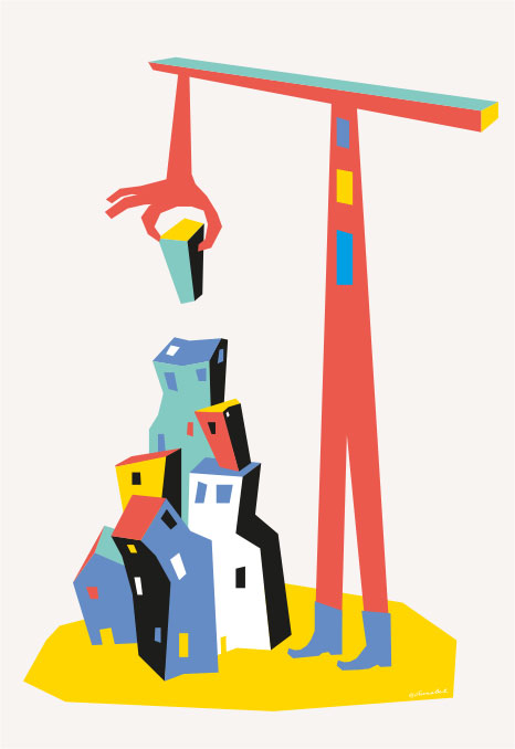Shapes and blocks - Mural illustrations