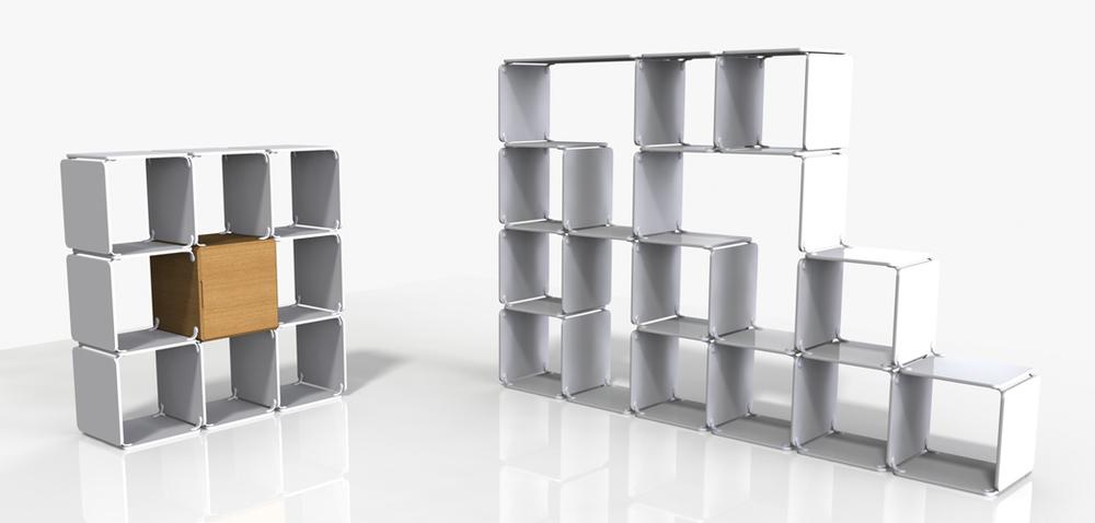 Ope systemet er et modulært hyllesystem som kan tilpasses ethvert rom. Hovedkomponentene er plater og braketter, som kan kombineres på utallige måter.