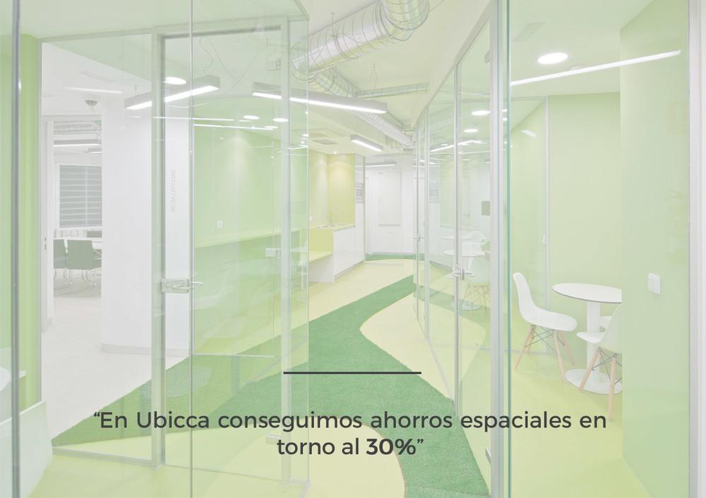 En Ubicca conseguimos ahorros espaciales en torno al 30%