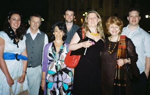 Gillian Humphreys and Lady Barbara Bear with Concordia Foundation artists.
