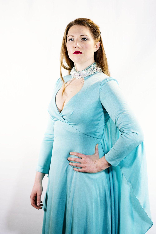 jenny stafford (soprano) wears item 56: doree leventhal ltd dress