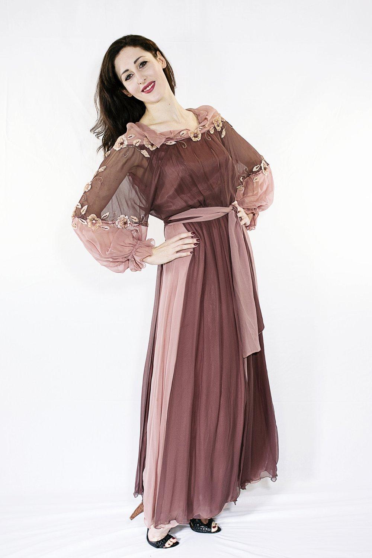 vivien conacher (mezzo-soprano) wears item 63: eli colaj silk dress, made in italy