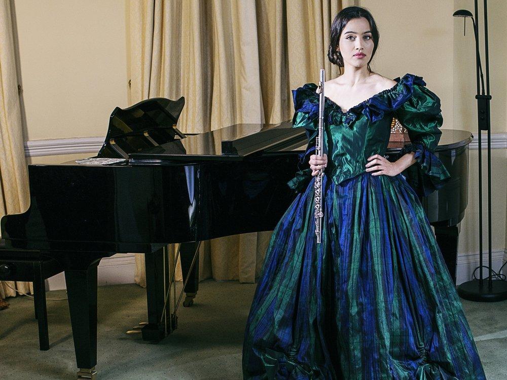 SOFIA CASTILLO (fluTe) wears item 108: stunning tartan gown