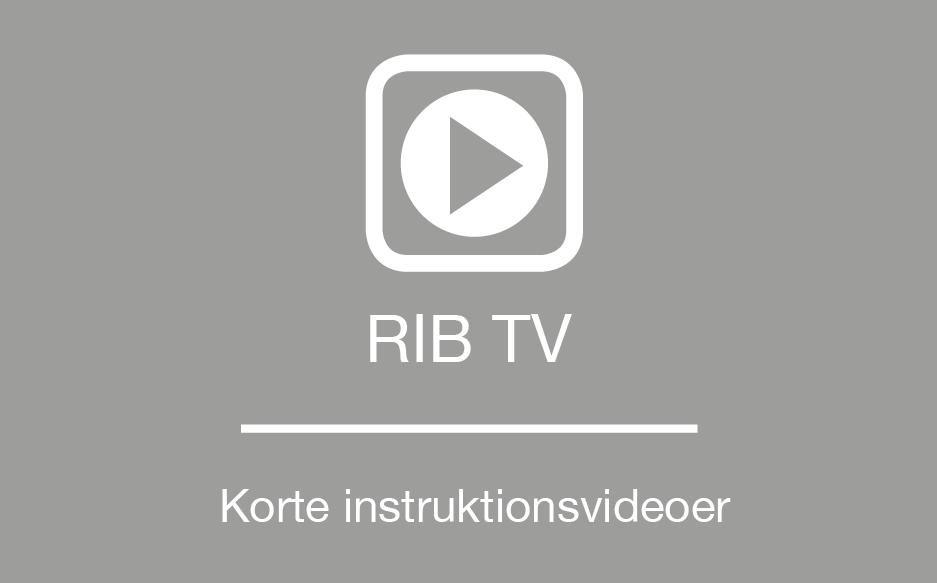 RIB support tutorials instruktionsvideoer