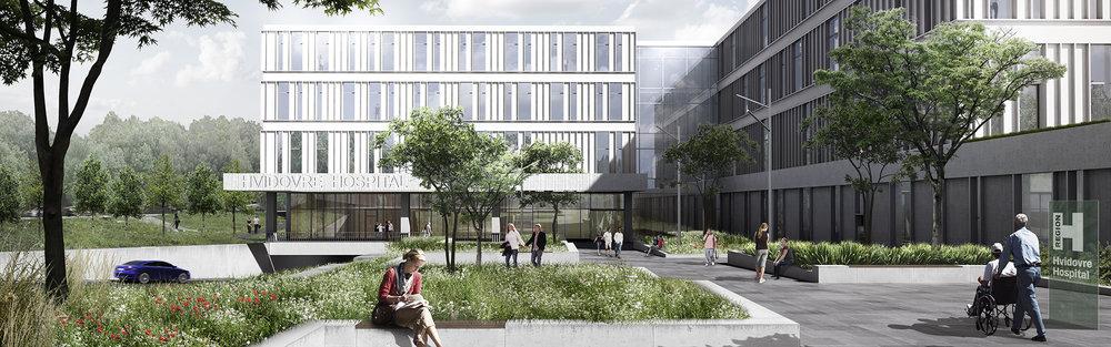 NYT HOSPITAL HVIDOVRE 32.000 m2 | 2009-2019 | Ca. 1,45 mia. kr. Bygherre: Region Hovedstaden