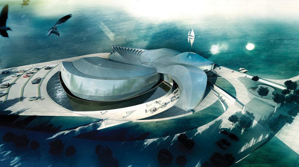 Den Blå Planet 9.700 m2 | 2010-2013 | 630 mio. kr. Hovedentreprenør: MT Højgaard A/S