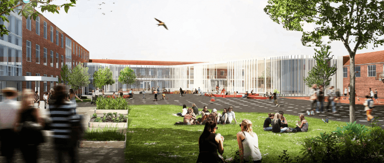 LUNDTOFTE SKOLE 2017-2020 | Ca. 80 mio. kr. Arkitekt: Aarstiderne | Rådg. ing:Bang & Beenfeldt