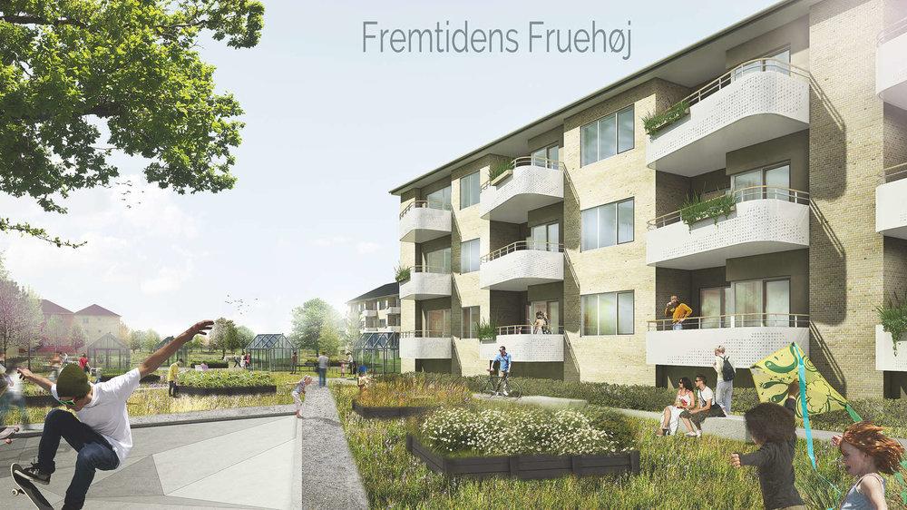 FRUEHØJ 350 boliger | 2017-2021 | Ca. 240 mio. kr. Totalrådgiver: Årstiderne Arkitekter & Rambøll