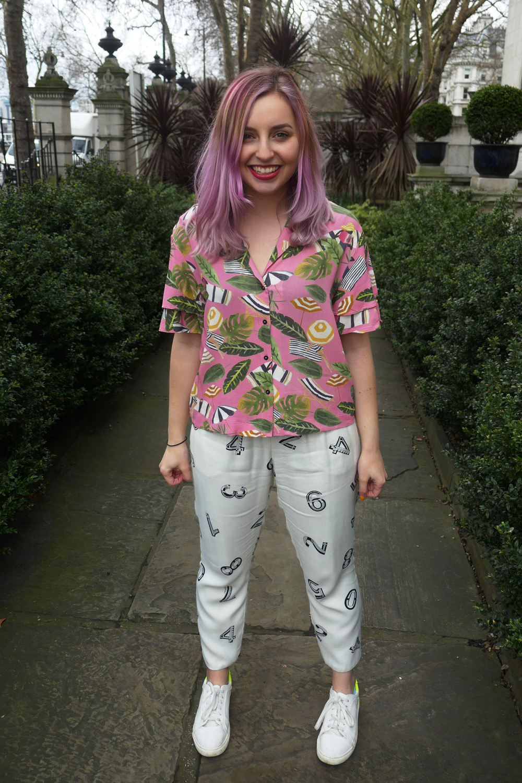 Blouse - MangoTrousers - See By ChloeJacket - Oliver BonasShoes - Zara -